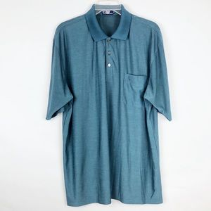 Polo Ralph Lauren Men's XXL 100% Silk Polo Shirt